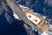 Photo of The foil-assisted Baltic 142 Canova hits her stride off Sardinia