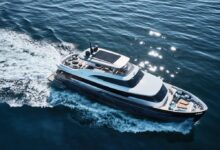Photo of Azimut yachts at the fort lauderdale boat show with Magellano 25m