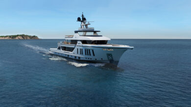 54mt Motor Yacht Explorer Project Bow Sprit